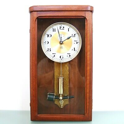 ATO LEON HATOT Antique Wall Clock TOP Condition! Electric ELECTROMAGNETIC French