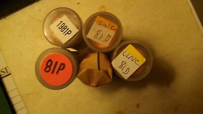 Five Uncirculated rolls of Lincoln Memorial Cents. 2- 1981-P and 3 1981-D