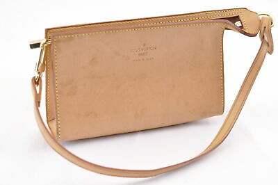 LOUIS VUITTON Nomade Leather Pouch LV Auth sa1621