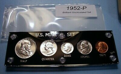 1952 MINT SILVER SET of U.S. COINS LUSTROUS CHOICE to GEM BRILLIANT UNCIRCULATED