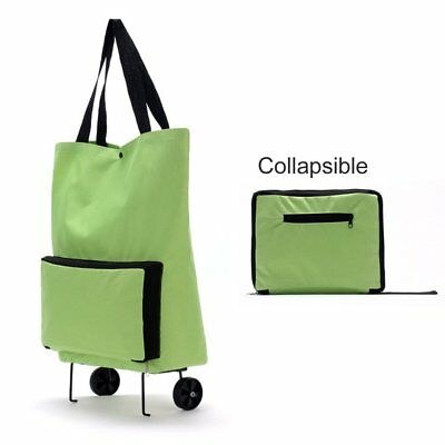 Large Thickened Canvas Lightweight Foldable Shopping Trolley Wheel Bag Ui