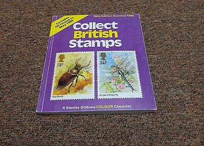 STAMP,  philatelic  BOOK, COLLECT BRITISH STAMPS,36TH EDITION SUMMER 1985