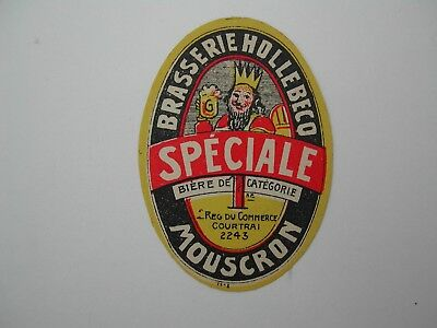 Beerlabel Speciale Br Hollebecq Mouscron *226