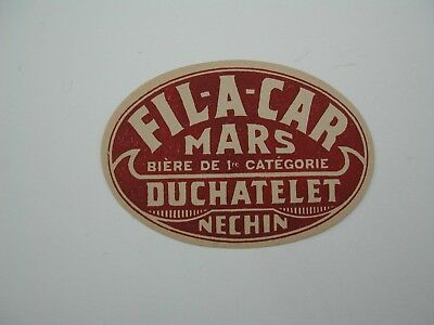 Beerlabel Fil-A-Car Duchatelet Nechin *52