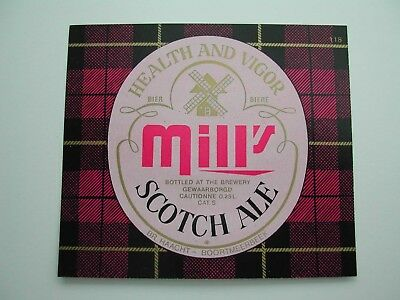 Beerlabel Mill's Scotch Ale Haacht *127