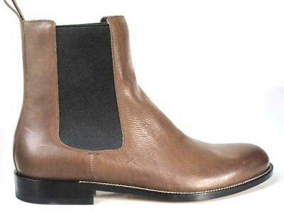 68d656b8065 new 1.3K mens GUCCI dark olive brown leather ANKLE BOOTS shoes 9 US 10