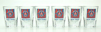 Official All Star Cafe, New York - Set of 6 SHOT GLASSES -Barware Glass Shooters