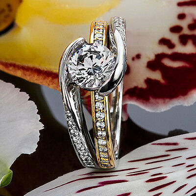 1 Ct Round Cut Diamond Solitaire Engagement Ring VS2 D 14K Yellow Gold