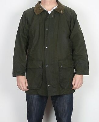 "Whatbaron Wax Jacket Coat Small 36"" 38"" Green (WCA)"