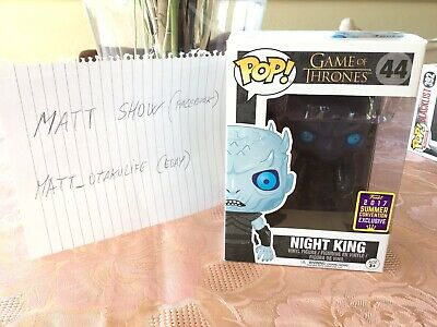 Funko Pop Game Of Thrones Night King Translucent SDCC Exclusive 2017