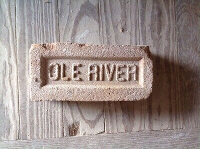 Antique Brick Stamped ****  Ole River   ********