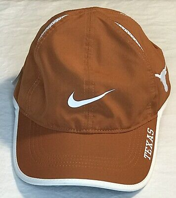 buy online e644c f6e7f Nike University Texas Longhorns Featherlight Adjustable Baseball Hat Cap Dri -Fit