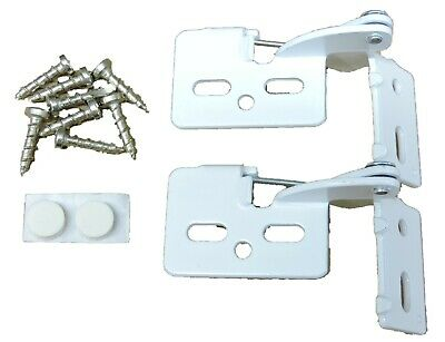 """2 Self Closing Hidden Concealed Cabinet Hinge 1/2"""" Overlay White Youngdale #6"""