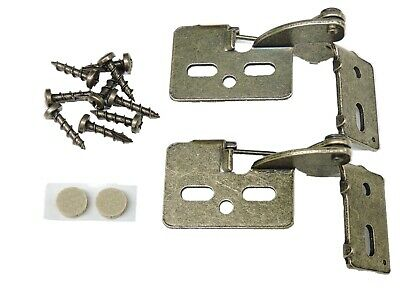 """2 Self Closing Concealed Cabinet Hinge 1/2"""" Overlay Antique Brass Youngdale #6"""