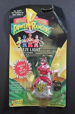 Janex Mighty Morphin Power Rangers Squeeze Light Red Ranger New in Box 1994
