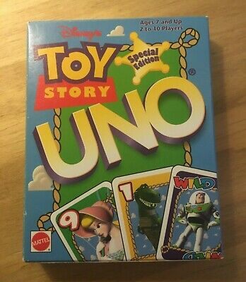 Disney Toy Story uno rare special edition Mattel card game brand new