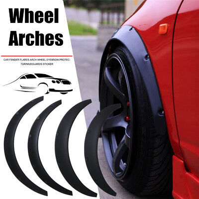 4Pcs Universal Widened JDM Fender Flares Wide Body Wheel Arches Car Fittings