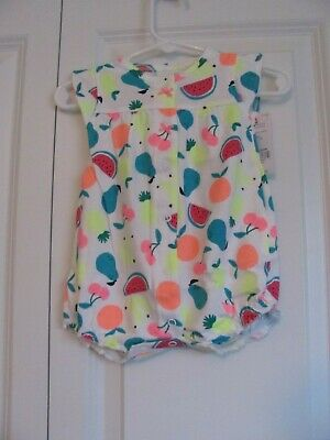 ff3a66302d42f NWT GIRLS CARTER'S Baby 6 Months 6M Romper One Piece Cupcake Multi ...