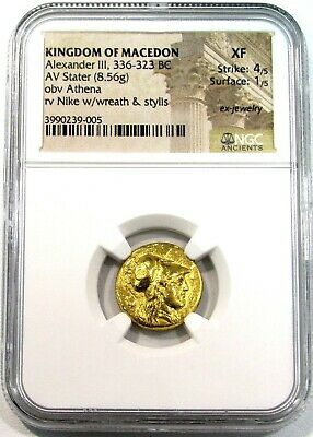 336- 323 Bc Gold Macedon Greek Stater Alexander Iii The Great Ngc Extra Fine