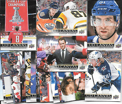 2018 19 UPPER DECK SERIES 2 UD CANVAS LOT OF 20 McDAVID OVECHKIN TAWARES TOEWS