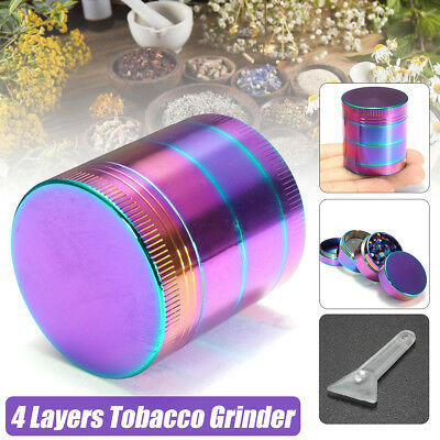 "4 Layers 2"" Rainbow Spice Herb Grinder Cylinder Herbal Smoke Crusher Hand Muller"