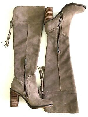 09dfd33f1c5 Franco Sarto Ellyn Women s Size 6.5 B Mocha Suede Leather Over The Knee Boot  New