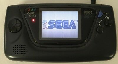 Sega Game Gear BLACK Handheld System Console Clean Tested New Caps + Screen READ