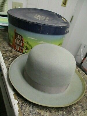 4f442d579e768 VINTAGE ROYAL DELUXE Stetson Fedora or Homburg w. original box sz 7 ...