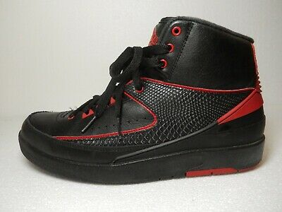 1d901fb1319 NICE-Air Jordan 2 II Retro Alternate 87 Black Varsity Red 834274-001 Mens