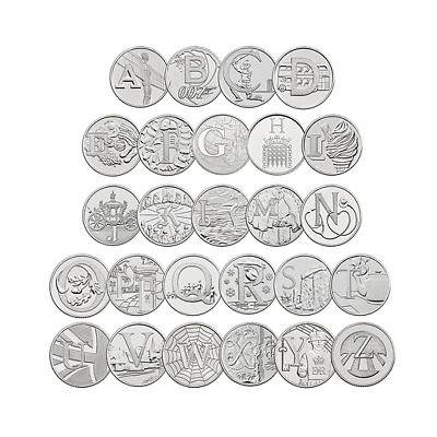 2018 & 2019 Alphabet 10p A-Z Great British Coin Hunt - Uncirculated - ROYAL MINT