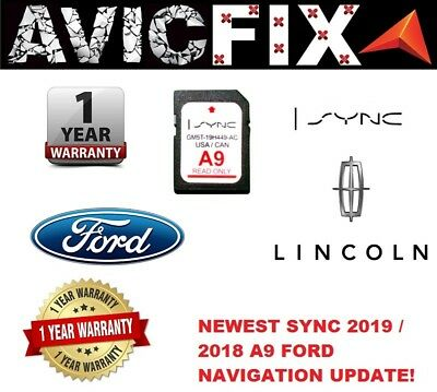 Ford Lincoln A9 SYNC SD Map Card Navigation Latest 2018 2019 USA Canada F150