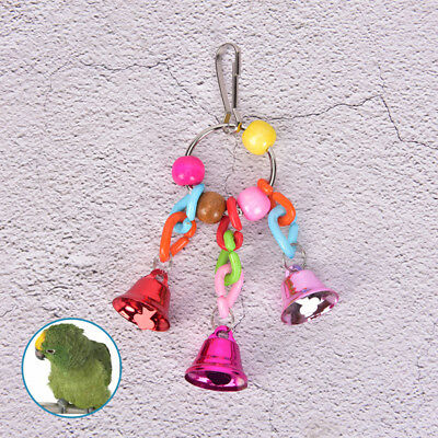 Pet parrot bird climb chew toys bell swing cage hanging cockatiel parakeet Fad