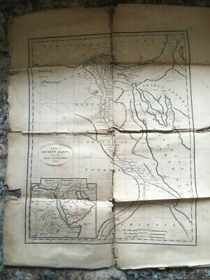 Vintage paper Map Ancient Egypt From the Best Authorities 1810 Peter Maverick