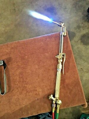 """""really Nice""""  Harris Angled Head Cutting Torch & Tip"