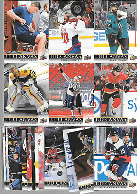 2018 19 Upper Deck Series 1 Canvas Lot Of 24 Cards  Price Burns Holtby