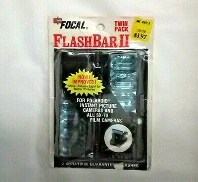 Vintage Focal FlashBar II Twin Pack for Polaroid Instant and SX-70 Film Cameras