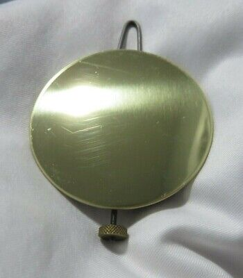 Vintage Brass Over Lead Clock Pendulum Excellent