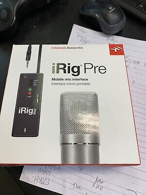 Brand New - IK Multimedia iRig Pre Mobile Mic Interface Record Audio Portable