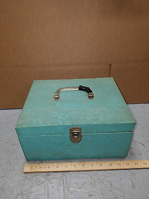 Vintage Sewing Box with Spools, Needles, Thimbles bra repairs, buttoneer & more