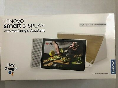 "Lenovo 10.1"" Smart Display with Google Home Assistant - White/Bamboo"