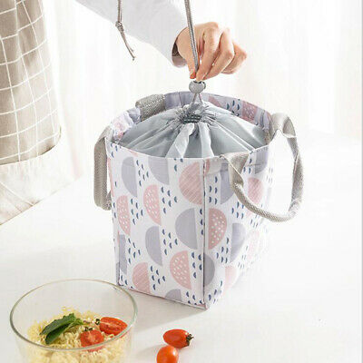 Portable Lunch Bag Insulated Box Tote Cooler Bento Container School Bags B