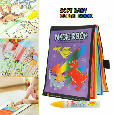 Kids Intelligence Development Cloth Bed Cognize Book Water Magic Educational Toy