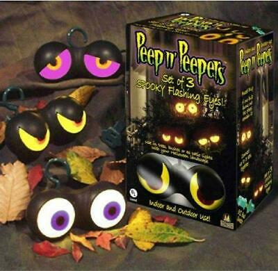 PEEPERS ANIMATED MOVING LIGHTED EYES HAUNT Outdoor Halloween Decor Prop YARD