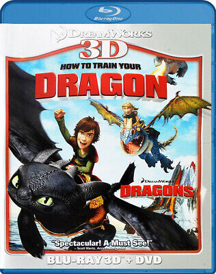 How To Train Your Dragon (Blu-ray 3D + DVD) (B New Blu