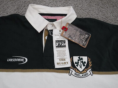 1e76caf132 LANDSDOWNE NWT Men's XL Ireland Rugby Shirt,Heritage Collection,Long Sleeve