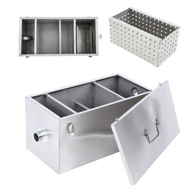 25LB 13GPM Per Minute Grease Trap Stainless Steel Interceptor Filter Commercial