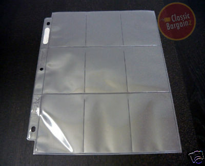 ULTRA PRO Collectible Trading Card Plastic 9-Pocket Page Sleeve x 10 sleeves NEW
