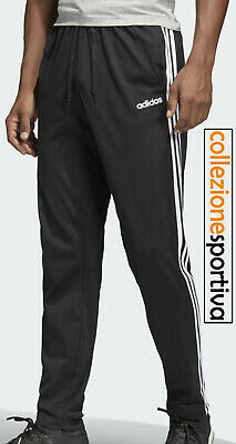 PANTALONE UOMO ADIDAS ESSENTIALS 3-STRIPES TAPERED OPEN- DU0456 col. nero/bianco