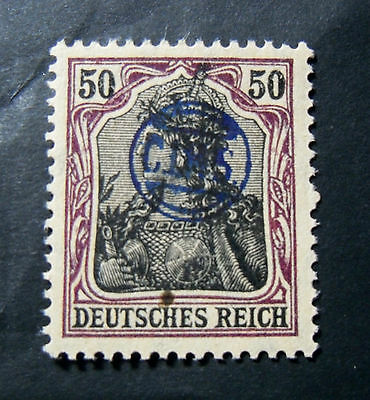 """GERMANIA,GERMANY D.REICH PLEBISCITO 1920 OVP """" C.I.H.S."""" 50 c. MH  Signed"""