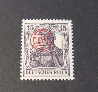 """GERMANIA,GERMANY D.REICH PLEBISCITO 1920 RED OVP """" C.I.H.S."""" 15p  MH  signed"""